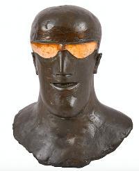 Goggled Head II (teeth), 1969. Bronze. Edition of 6