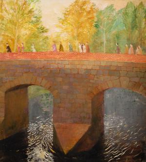 Bridge, oil, 200 x 150cm