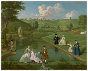 a painting of Beachborough by E. Haytley