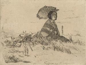 James McNeill Whistler (1834-1903), En Plein Soleil, from 'Twelve Etchings from Nature'