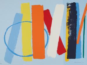 Wilhelmina Barns-Graham, Summer (light blue), 1997.